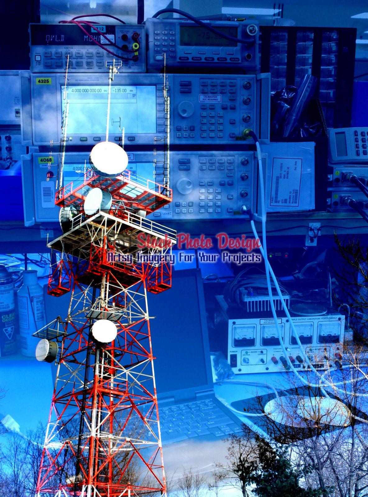 Communication-Equipments-Photo-Montage-Image