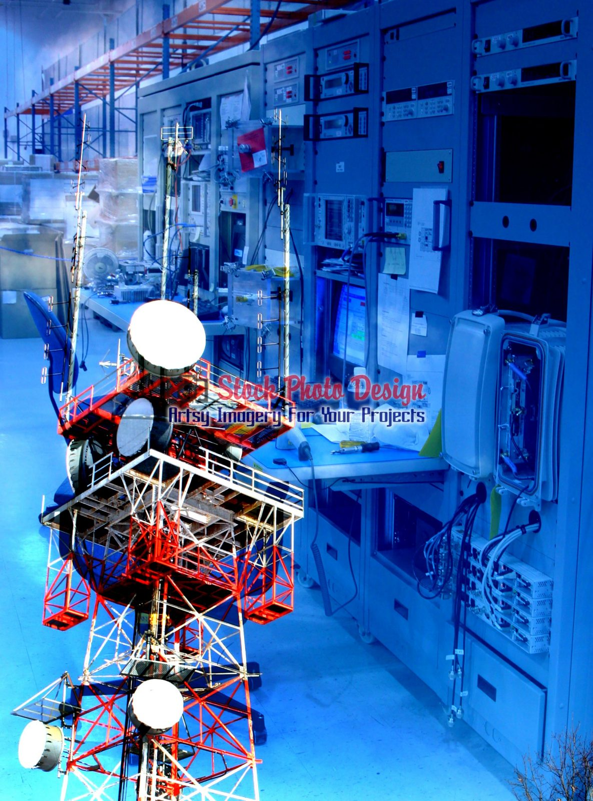 Modern-Communication-Equipments-Photo-Montage-Image