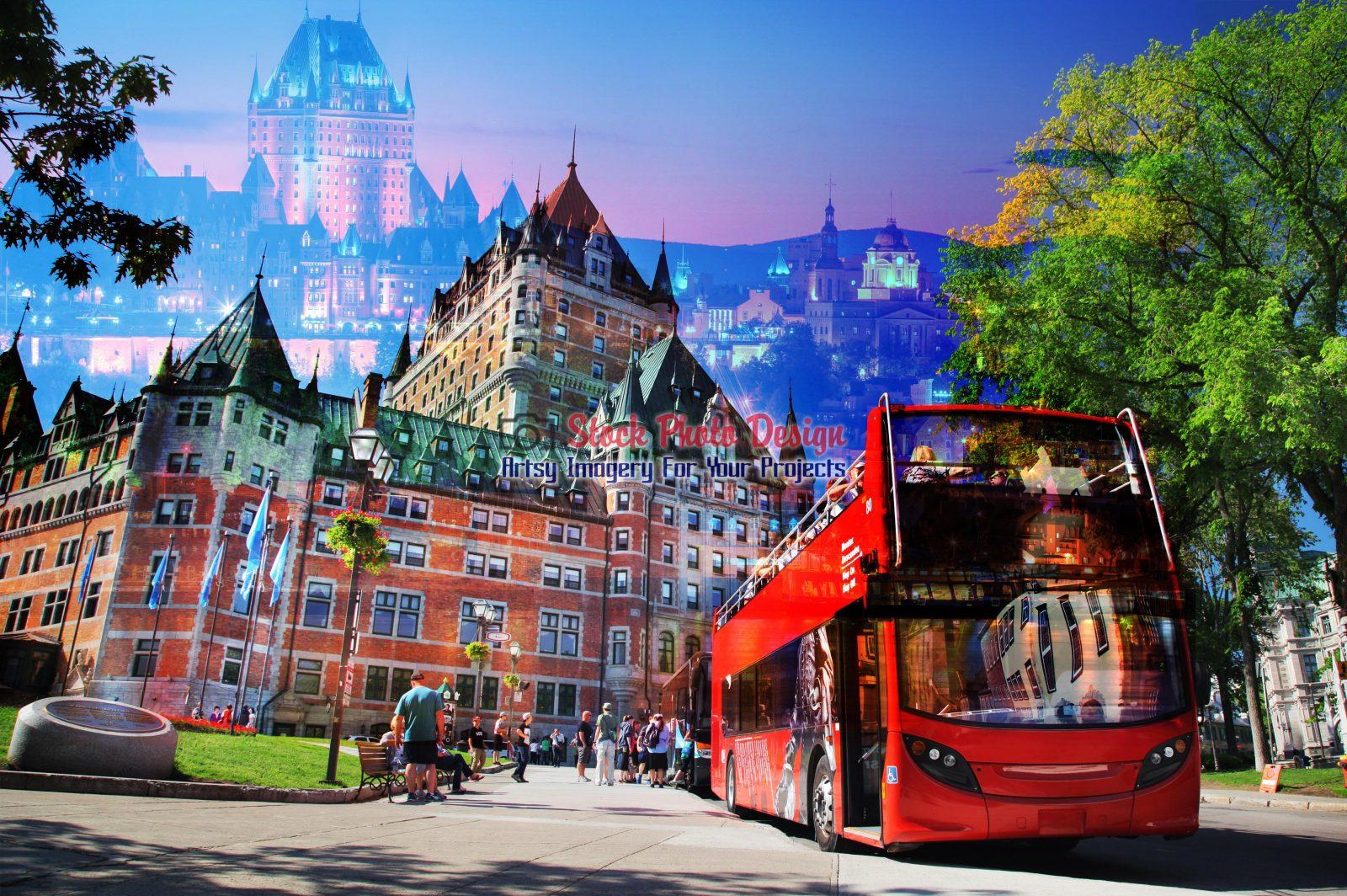 Quebec-City-Bus-Photo-Montage-Images