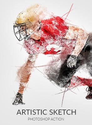 Effet Photoshop Sketch Artistique