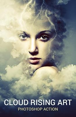 Effet Photoshop Cloud Rising