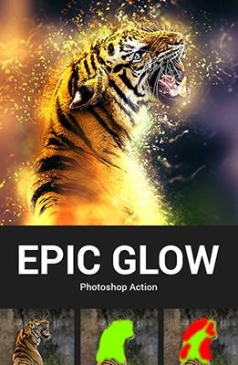 Effet Photoshop Epic Glow