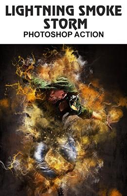 Effet Photoshop Lightning Smoke Storm