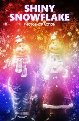 Effet Photoshop de Neige Illuminée