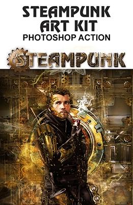 Effet Photoshop Steampunk