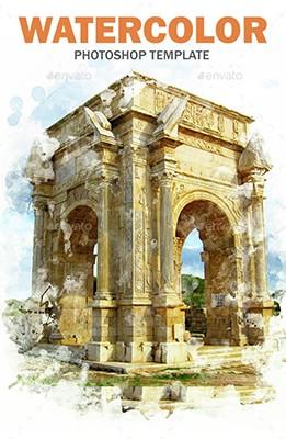 Effet Photoshop Watercolor Templates