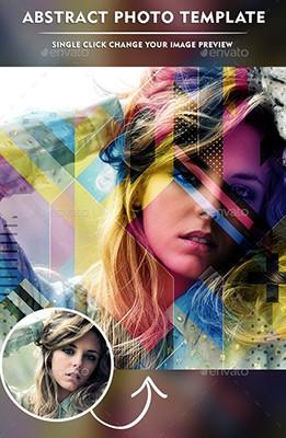 Effet Photoshop Photo Abstraite