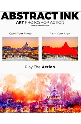 Effet Photoshop Encre Abstraite