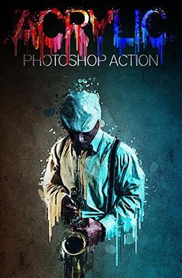 Effet Photoshop Peinture Acrylique