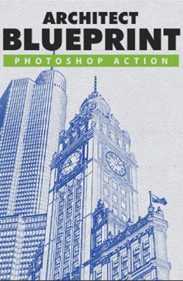 Effet Photoshop Sketch d'Architecture