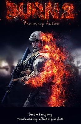 Effet Photoshop Brulure 2