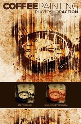 Effet Photoshop Peinture de Café
