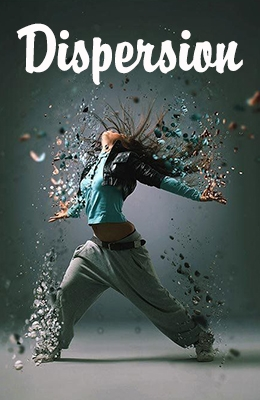 Effet Photoshop de Dispersion
