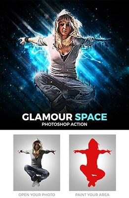Effet Photoshop Glamour Space