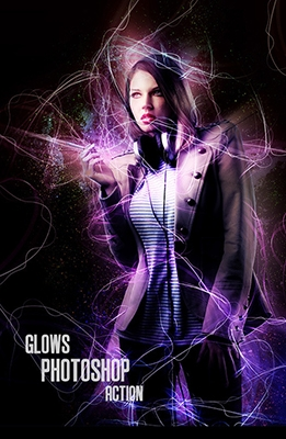 Effet Photoshop Glows