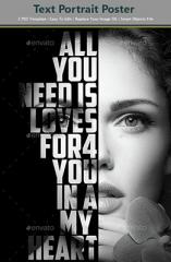 Effet Photoshop Texte et portrait