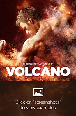 Effet Photoshop Volcan